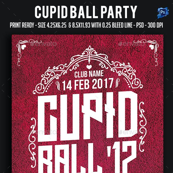 Cupid Ball Party Flyer