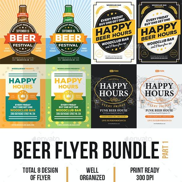 Beer Flyer Template Bundle