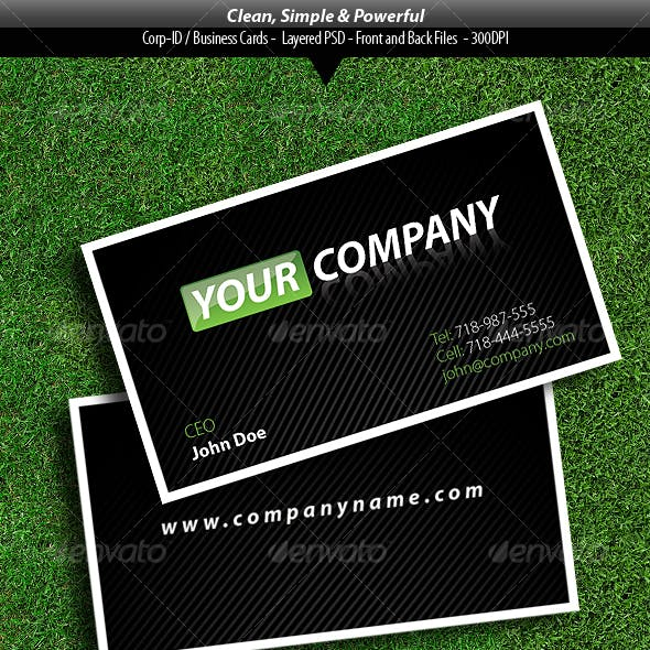 Clean, Simple, and Powerful Business Card