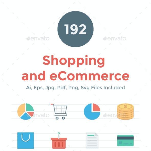 192 Flat Shopping and eCommerce Icon