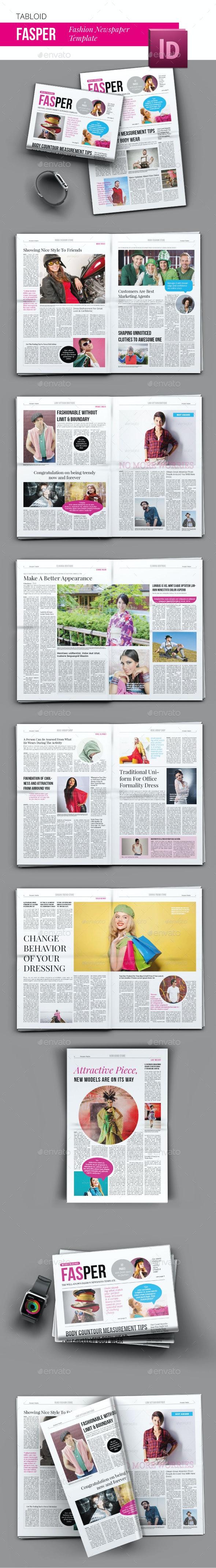 Fasper Fashion Newspaper - Newsletters Print Templates