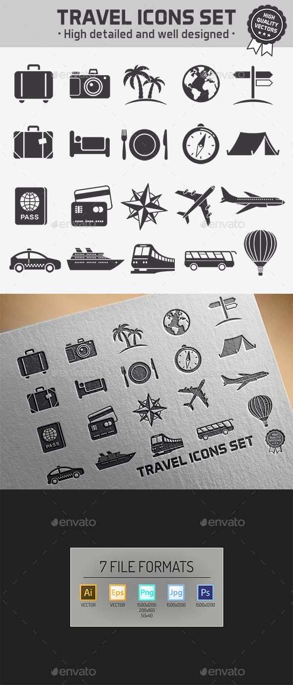 Travel Vector icons set - Miscellaneous Icons