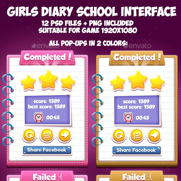 Girls Diary School GUI
