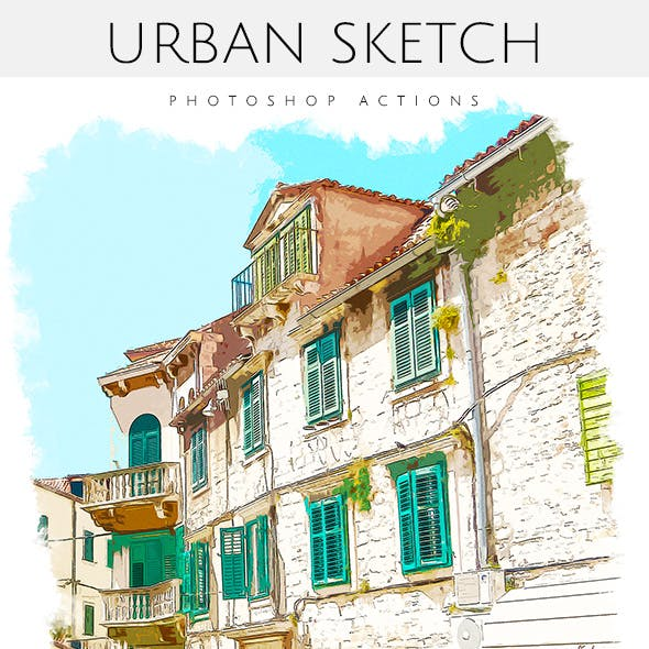 Urban Sketch - Photoshop Actions