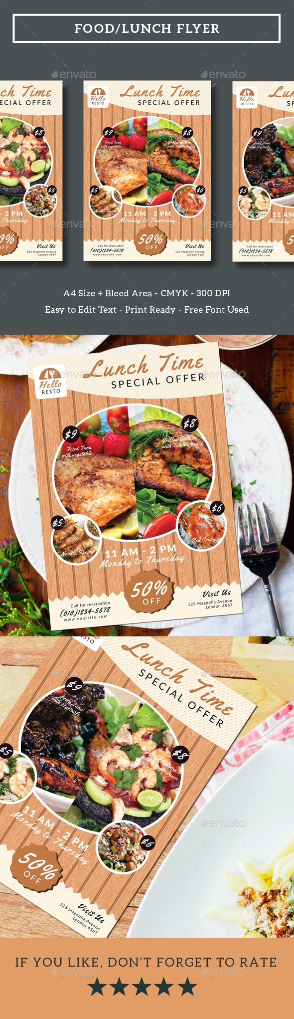Food/Lunch Flyer - Restaurant Flyers