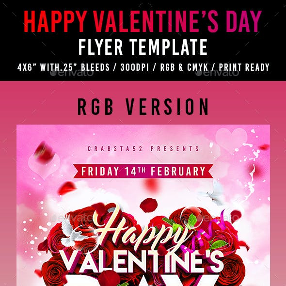 Happy Valentine's Day Flyer Template