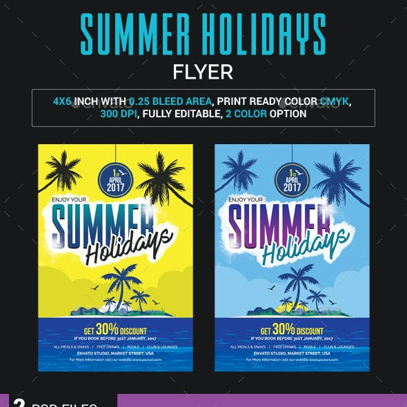 Summer Holidays Flyer