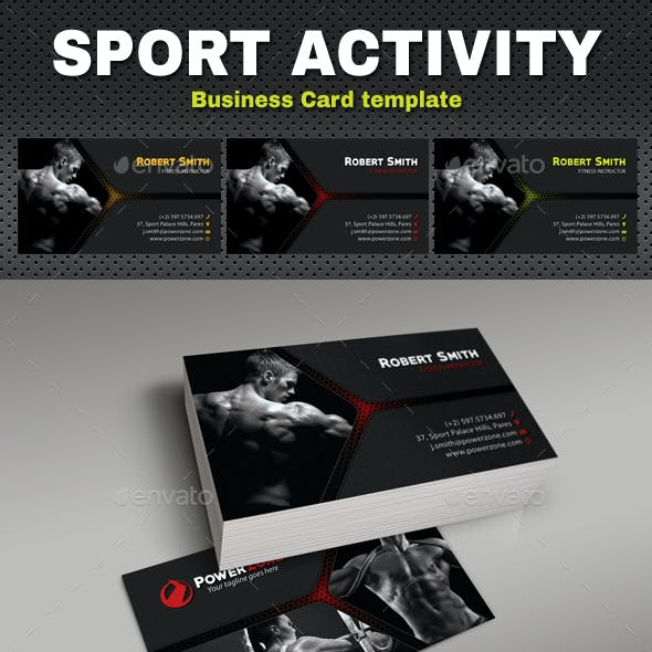 Sport Activity Business Card 07