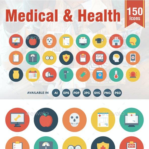 Medical & Health Flat Icons