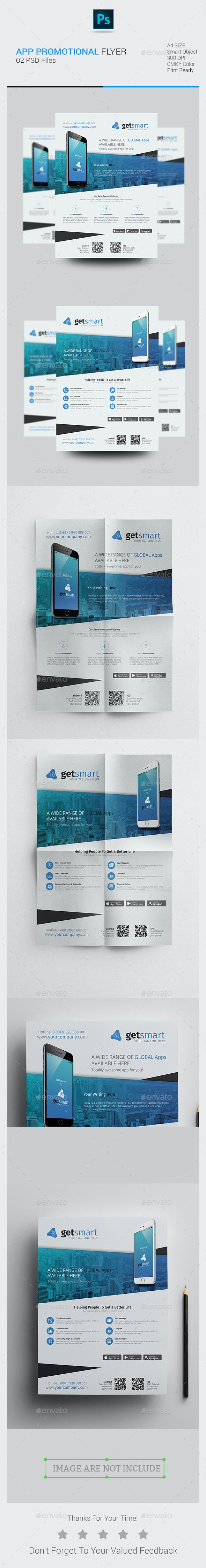 Mobile App Promotional Flyer - Corporate Flyers