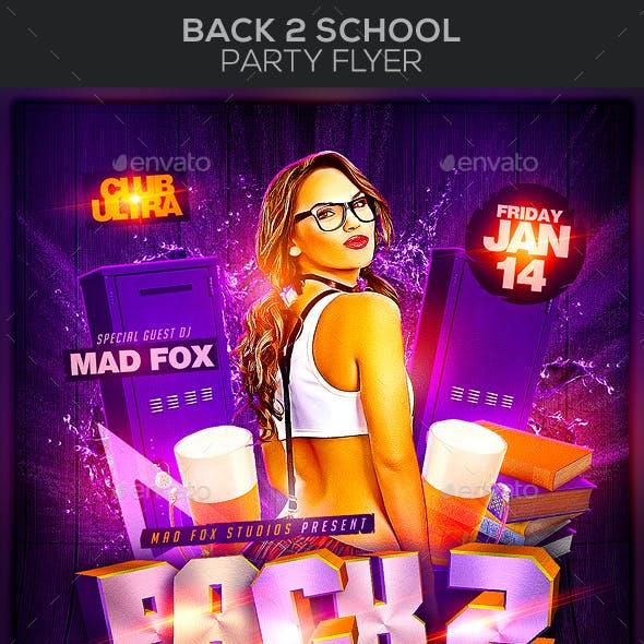 Back 2 School Party Flyer