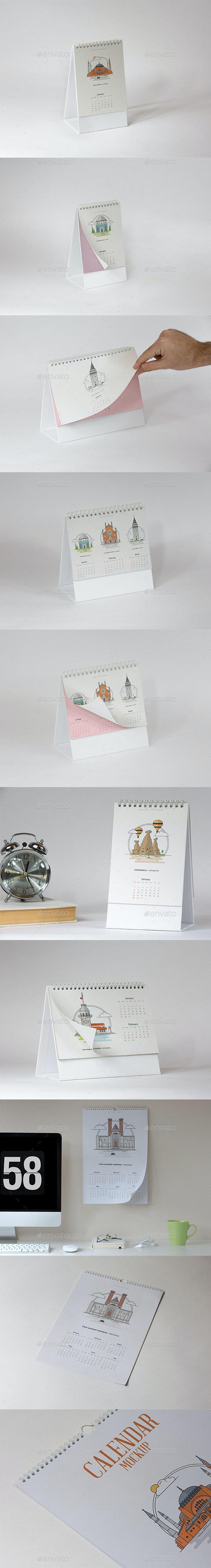 Calendar Mockup Pack - Print Product Mock-Ups