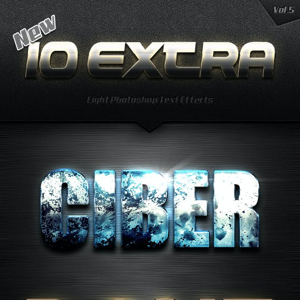New 10 Extra Light Text Effects Vol.5