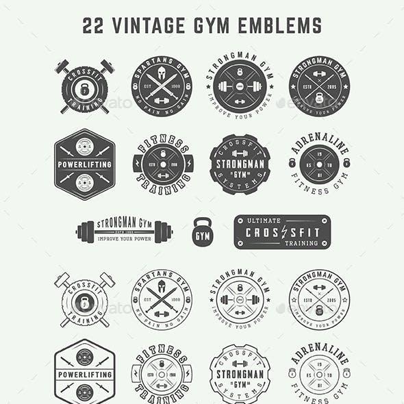 22 Gym Emblems