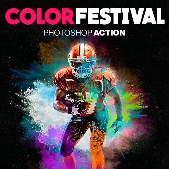 Color Festival Photoshop Action - Dust Effect