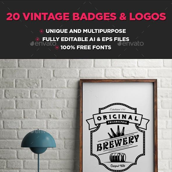Unique Vintage Logo & Badges Collection Volume 3