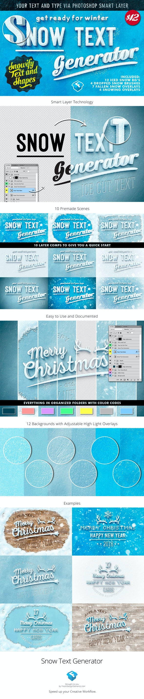 The Snow Text Generator - Miscellaneous Styles