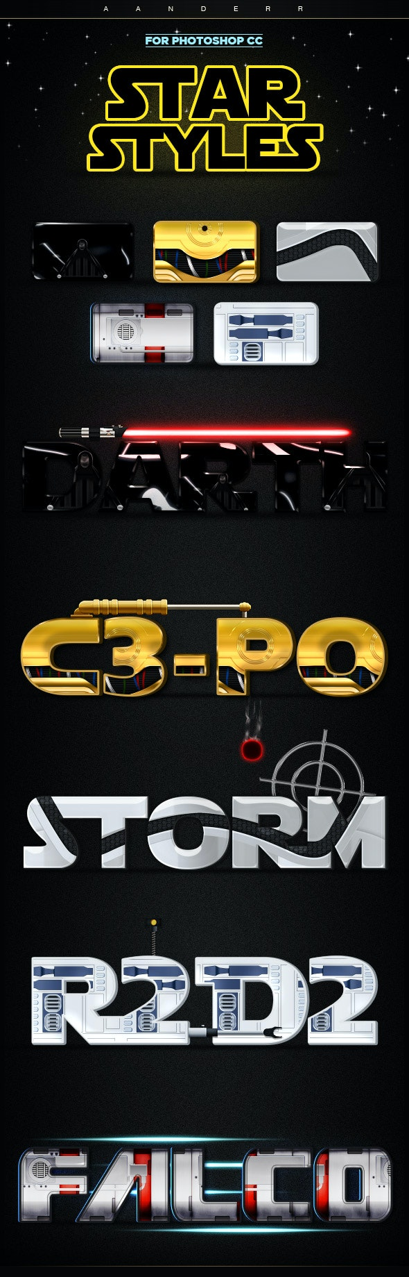 Star Styles - Text Effects Styles