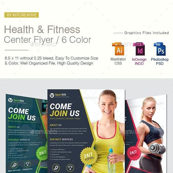 Health & Fitness Center Flyer