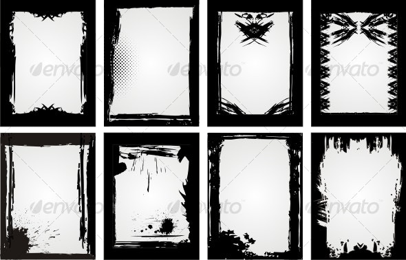 Grunge Frame Collection - Backgrounds Decorative