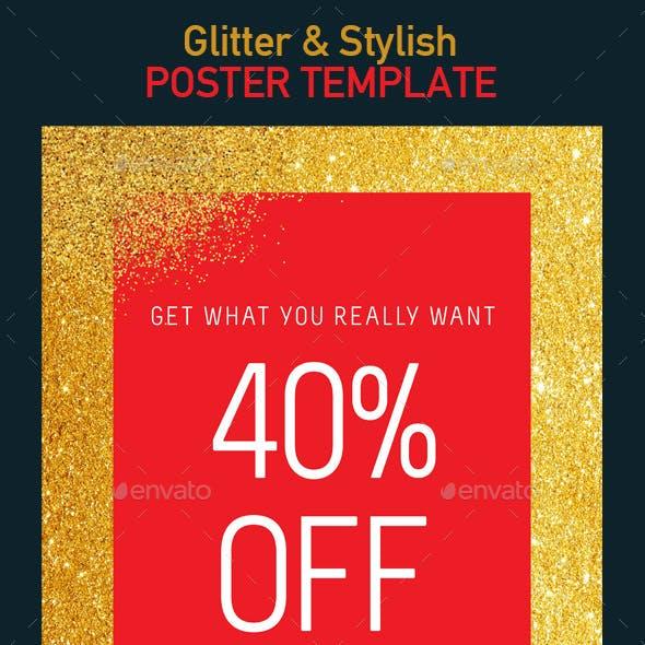 Glitter, Stylish Poster