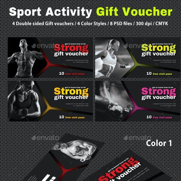 Sport Activity Gift Voucher V34