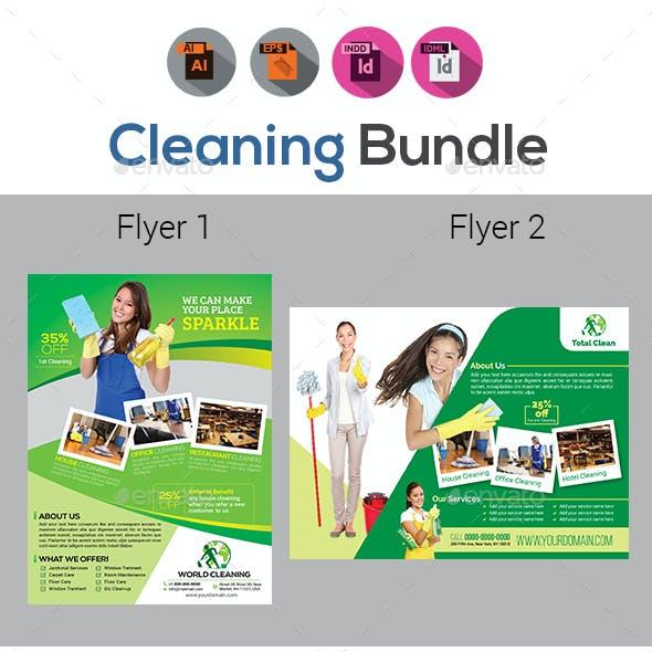 Cleaning Service  Flyer Bundle