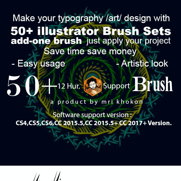 50 Illustrator Brush Sets