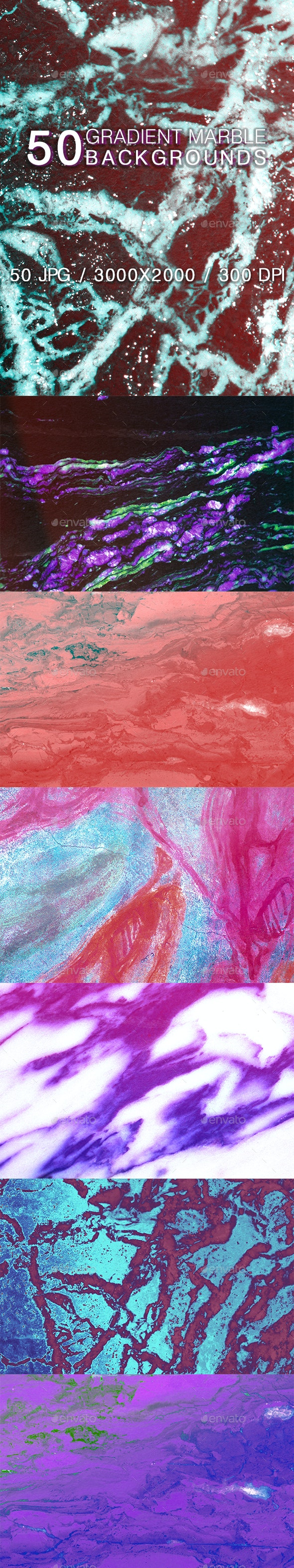 50 Gradient Marble Backgrounds - Abstract Backgrounds