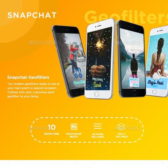 10 Modern Snapchat Geofilters