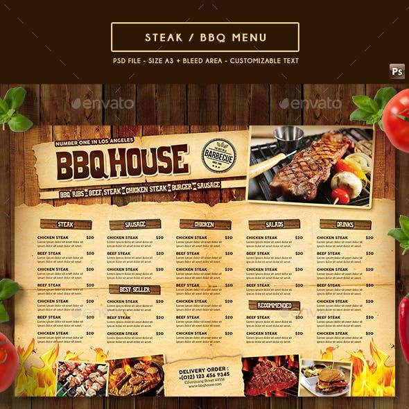 BBQ / Steak Menu