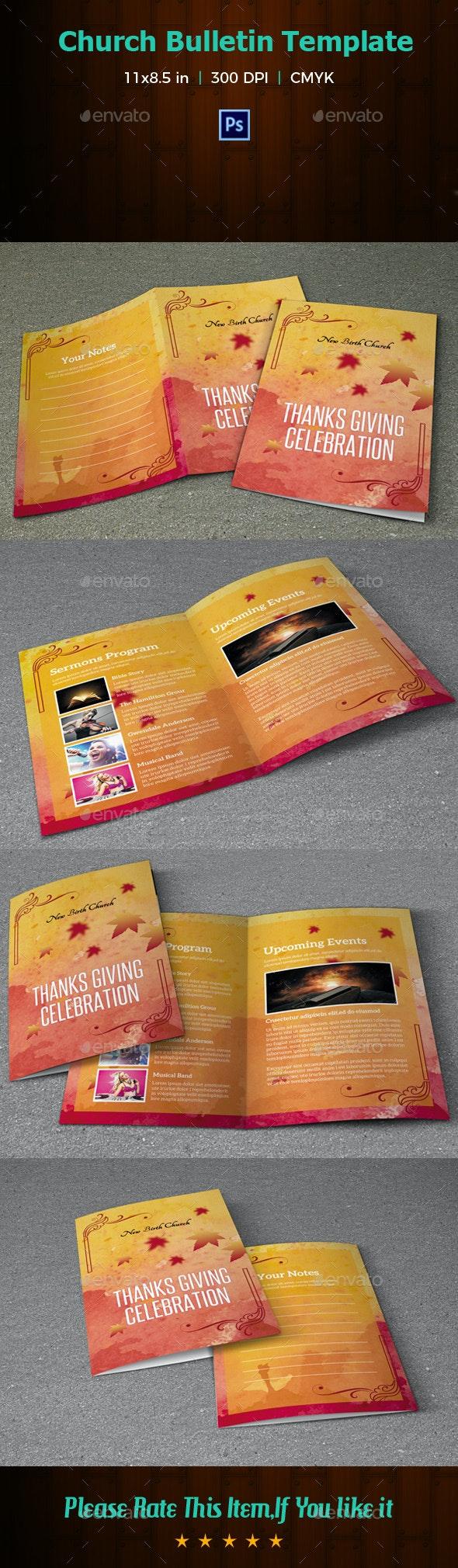 Church Bulletin Template-V04 - Informational Brochures