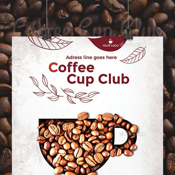 Coffee Cup Club Flyer