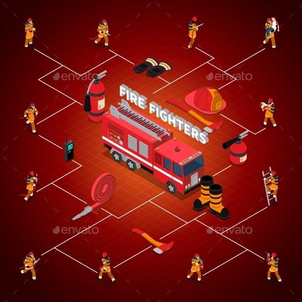 Firefighter Isometric Flowchart