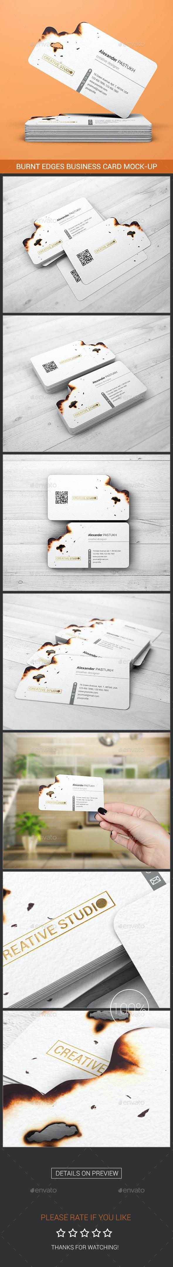 Burnt Edges Business Card Mock-Up - Business Cards Print