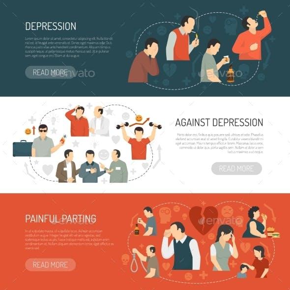 Depression Horizontal Banners