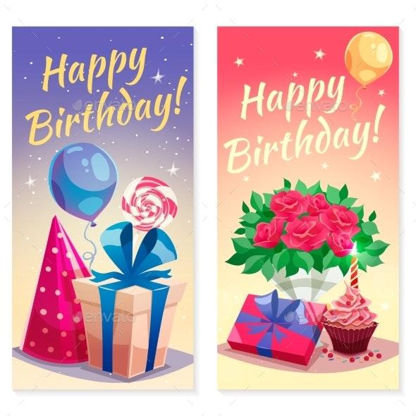 Birthday Party Vertical Banners - Birthdays Seasons/Holidays