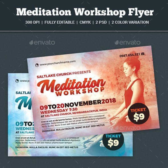 Meditation Workshop Flyer