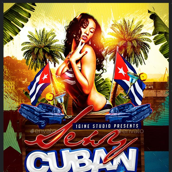 Sexy Cuban Party Flyer Template