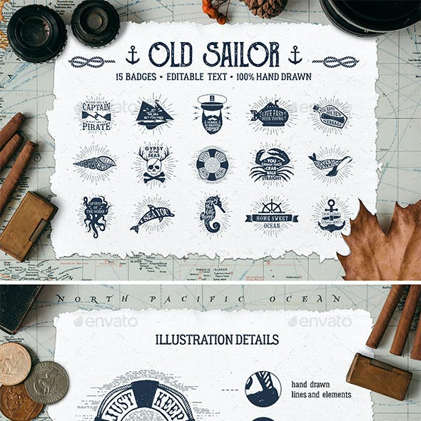 Old Sailor Vintage Badges Vol.1