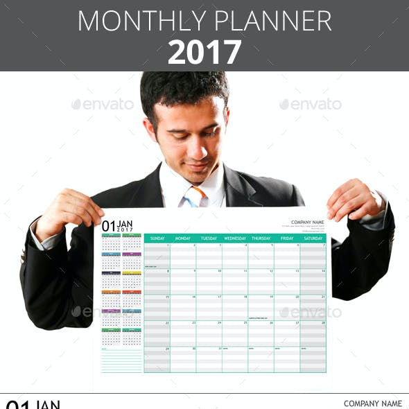 Monthly Planner 2017 + A3 Poster