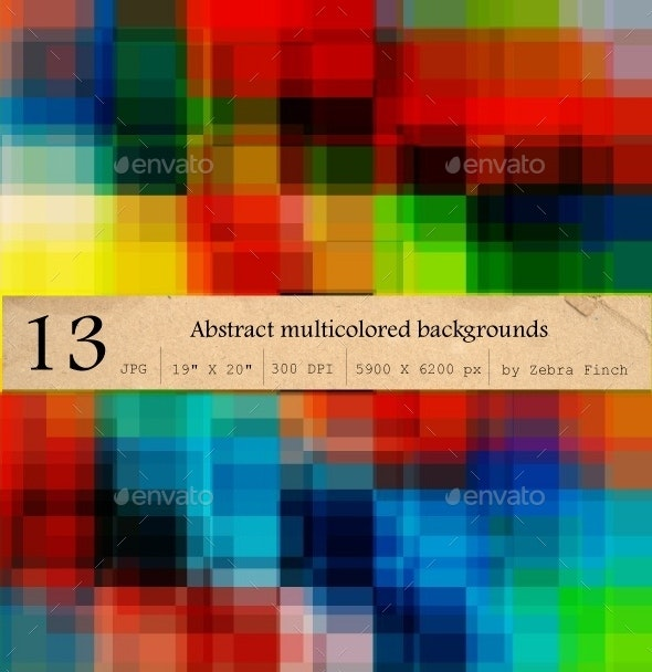 13 Abstract Multicolored Backgrounds - Abstract Backgrounds