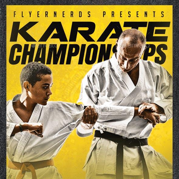 Karate 2K17 Championships Sports Flyer