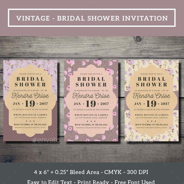 Vintage - Bridal Shower Invitation