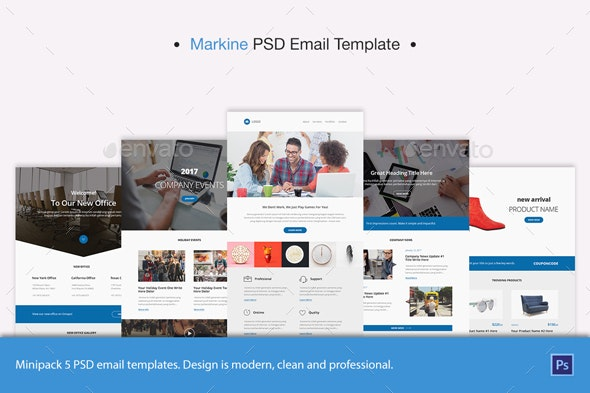 Markine PSD Email Template