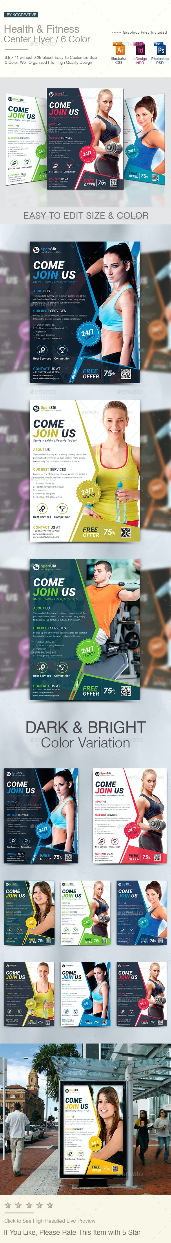 Health & Fitness Center Flyer - Corporate Flyers