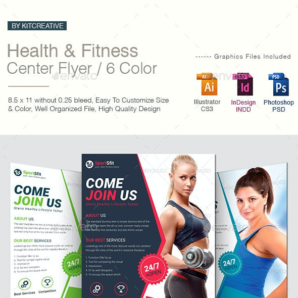 Health & Fitness Center Flyer