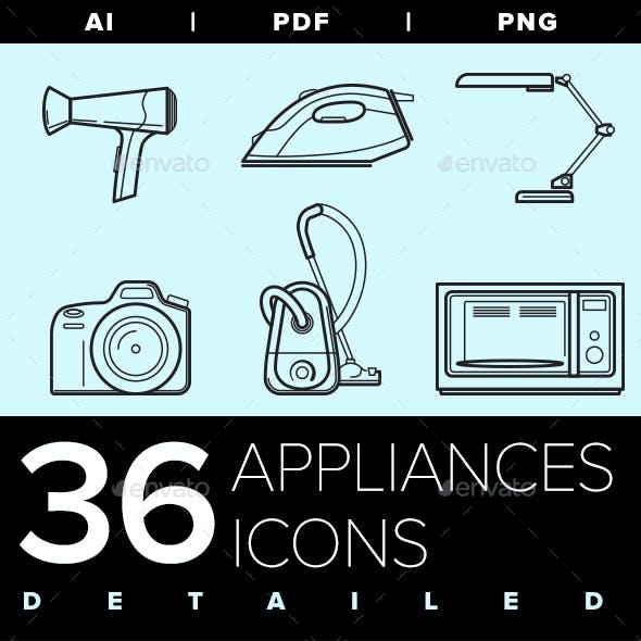 Appliances Icon set