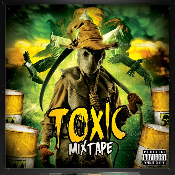 Toxic Fear CD Mixtape Cover Template