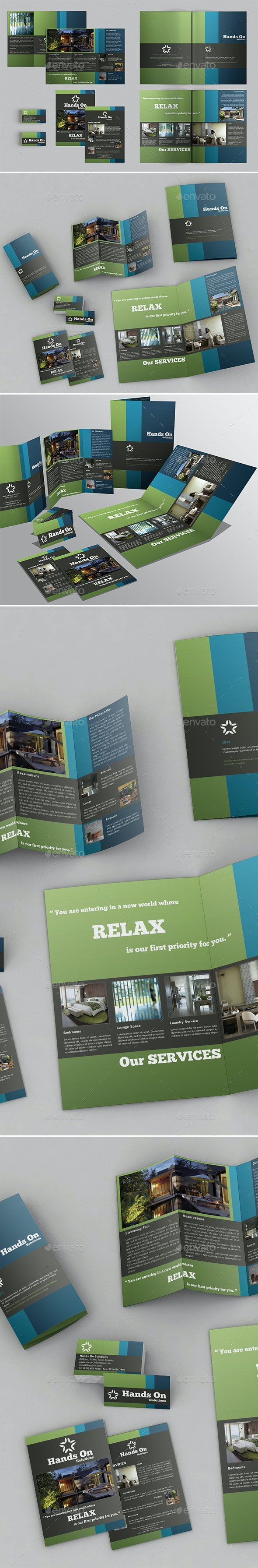 Brochures Pack Set A4 + Trifold + Business Card - Corporate Brochures
